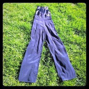 Tahari Dressy Jumpsuit Wide Leg Navy XS 4